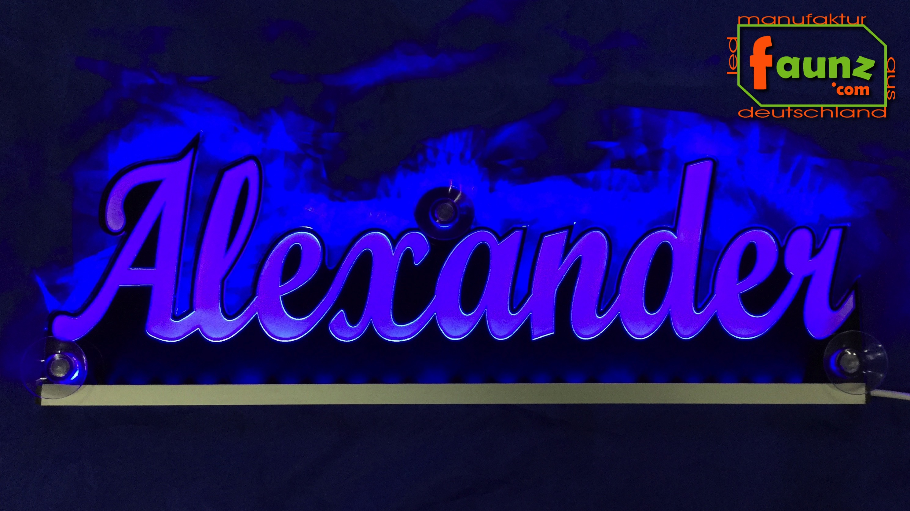 "Farbe wählbar Name LED Leuchtschild Namensschild ""Alexander"" grün 12//24V"